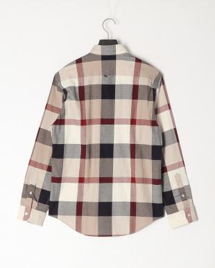 ベージュ ロイヤルオックスクレストブリッジチェックボタンダウンシャツを見る