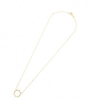 イエローゴールド ダイヤモンド×K18 サークルネックレスを見る