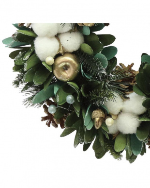 Wreath-Green Curl With Cotton Ball Mを見る