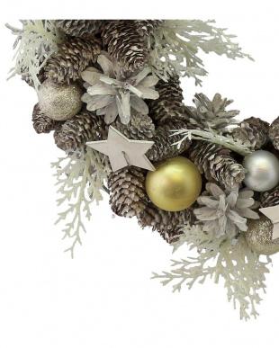 White Ball Fern Star Wreath Mを見る