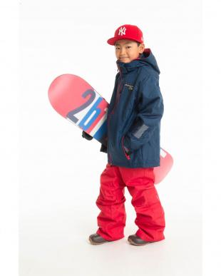 ネイビー/レッド ドリームフライ ジュニア ボーイズスキーウェア ジャケット・パンツセットを見る