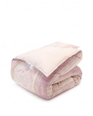 ピンク ホワイトダックダウン85% 羽毛掛け布団 シングルロング 保温性 軽い 抗菌加工を見る