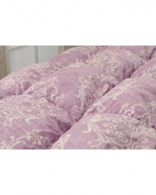 ピンク フランス産シルバーダックダウン93% 羽毛掛け布団 シングルロング コットン ペイズリーデザイン 保温性 軽い 抗菌加工 150×210cmを見る