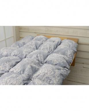 グレー フランス産シルバーダックダウン93% 羽毛掛け布団 シングル コットン ペイズリーデザイン 保温性 軽い 抗菌加工 150×210cmを見る