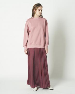 ピンク サテンマキシプリーツスカートを見る