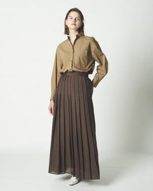 Dブラウン シアータックプリーツスカートを見る