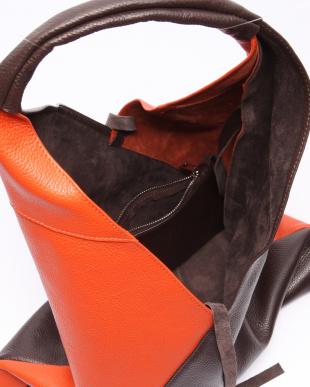 チョコ/オレンジ バッグを見る