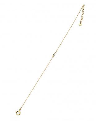 イエローゴールド K10YG ダイヤモンド ワンポイント ブレスレットを見る