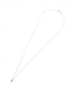 イエローゴールド K18YG ダイヤモンド ネックレスを見る