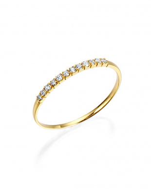 イエローゴールド K18YG H&Cダイヤモンド リングを見る