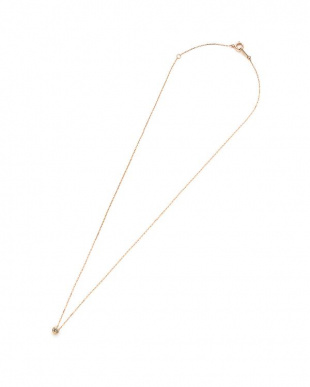 ピンクゴールド K10PG ダイヤモンド0.08ct ネックレスを見る