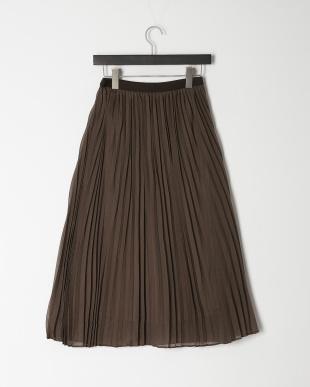 ブラウン シアープリーツスカートを見る