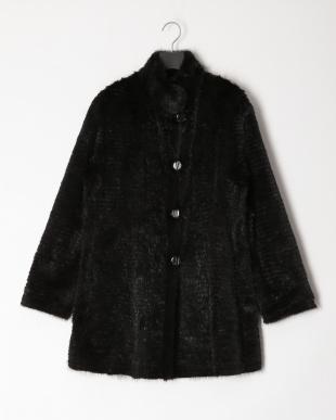 ブラック シルクミンクリバーコートを見る