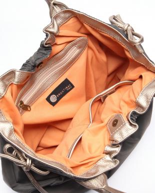 カーボングレー*ゴールド ナイロンA4トートバッグを見る