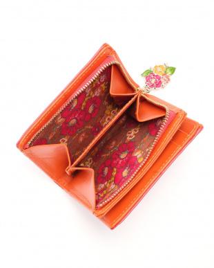 ピンク エターナルバタフライ Lファスナー二つ折り財布を見る