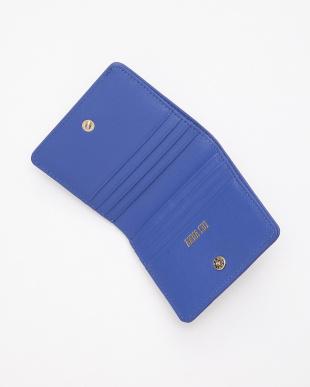 ブルー ランダムハート 二つ折りミニ財布を見る