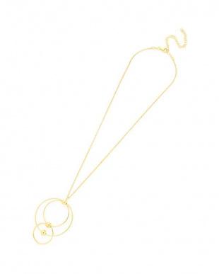 ゴールド シルバー マルチサークル ネックレスを見る