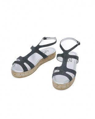 ダークグレー [tredi Chic]01-platform sandals/suedeを見る