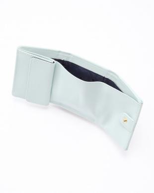 ライトブルー タイポ型押しミニ財布を見る