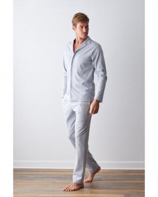 Melange blue 長袖パジャマセットを見る