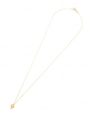 イエローゴールド K18YG ダイヤモンド0.06ct ダイヤシェイプ ネックレスを見る