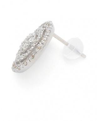 ホワイトゴールド K18WG ダイヤモンド 1ct ディスク ピアスを見る