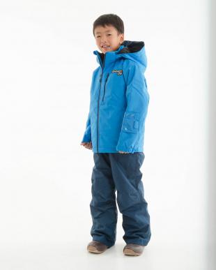 ブルー/ネイビー ドリームフライ ジュニア ボーイズスキーウェア ジャケット・パンツセットを見る
