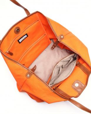 オレンジ 帆布ビッグトートバッグ(+サコッシュ付き)を見る