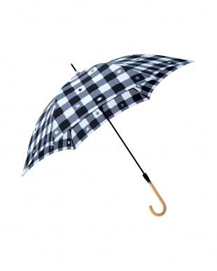 チェックブラック moz×mabu UVカットスリムジャンプ傘を見る