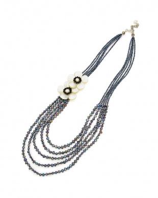 シェル淡水パールガラス シェル 淡水パール ネックレスを見る