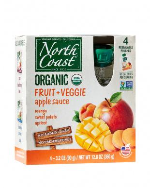 有機フルーツ+ベジアップルソースマンゴー・さつま芋・アプリコットと有機アップルソースオリジナルパウチタイプ セットを見る