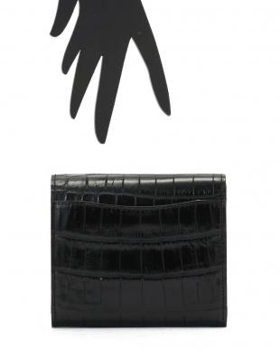ブラック VENATURA クロコ×レザー 2つ折財布を見る