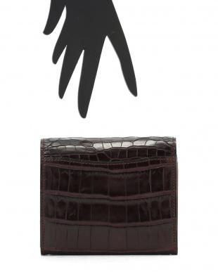 ブラウン VENATURA クロコ×レザー 2つ折財布を見る