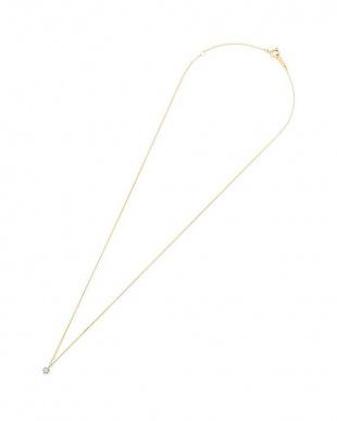 イエローゴールド K10YG ダイヤモンド アンティークフィニッシュ ソリティア ネックレスを見る