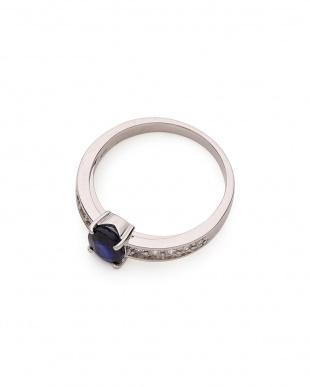 プラチナ PT900 サファイヤ(1.0ct) ダイヤモンド(0.21ct)リングを見る