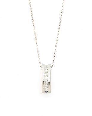 ホワイトゴールド K18WG サファイヤ ダイヤモンド グラデーションネックレスを見る