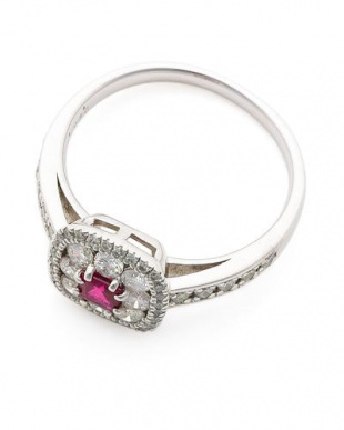 プラチナ PT900 ピジョンブラッドルビー (0.25ctUP)ダイヤモンド(0.70ct)リングを見る