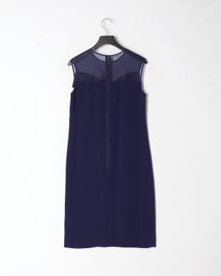 ブルー バックサテンジョーゼット ドレスを見る