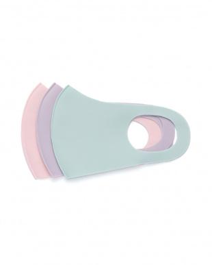 ピンク・パープル・ミントグリーン 保湿フィットマスク3色12枚組を見る
