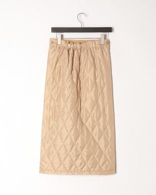 ベージュ 裏ボアあったか巻きロングスカートを見る