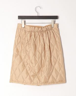ベージュ 裏ボアあったか巻ハーフスカートを見る