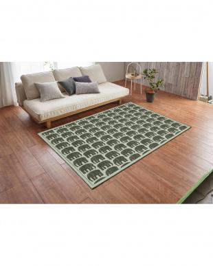 グレー ELEFANTTI ゴブラン織り 玄関マット 200×200cm GYを見る