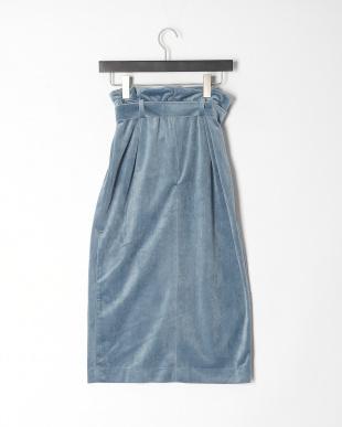 ブルー マイクロベロアスカートを見る