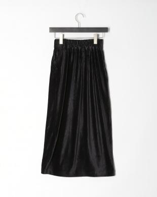 ブラック カットコールフロントボタンスカートを見る
