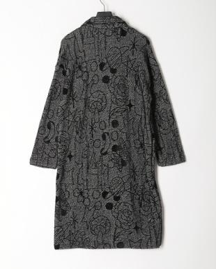 ブラック オリジナルジャガード起毛コートを見る
