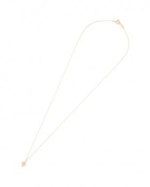 イエローゴールド K18YG ダイヤモンド ダイヤフォルム ネックレスを見る