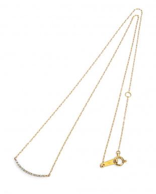 イエローゴールド K10YG ダイヤモンド ネックレスを見る