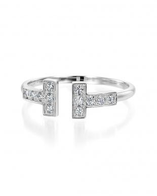 ホワイトゴールド K18WG ダイヤモンド デザインリングを見る