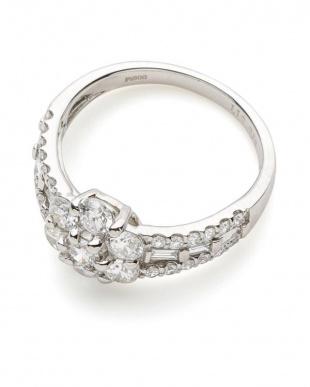 プラチナ H&Cダイヤモンド フラワーモチーフ リングを見る