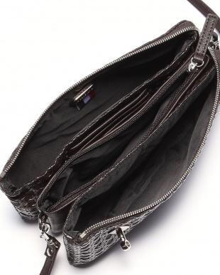 ブラック フレンチファブリック SAFECO クロスメッシュお財布ショルダーバッグを見る